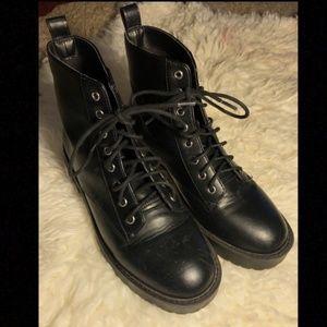 Black Combat boots Lace Up 8